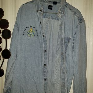 Mans mason denim shirt